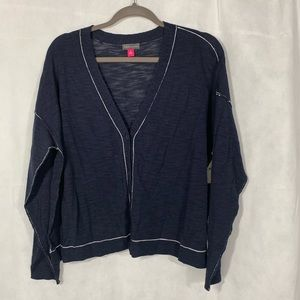 VINCE CAMUTO Navy Blue Button Up Cardigan, Size XL